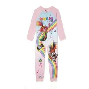 Trolls 1 Piece Footless Pajama Blanket Sleeper PJ
